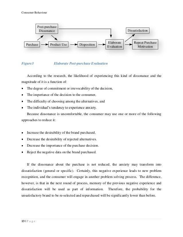 Consumer behavior project report