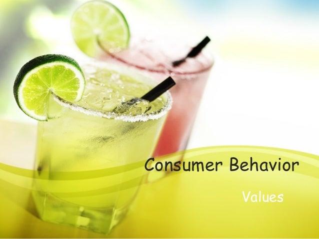 Consumer Behavior Values