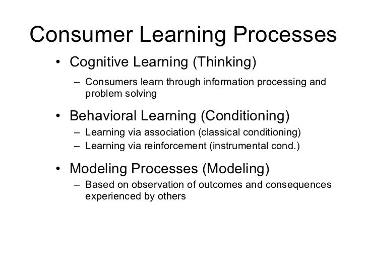 Consumer Behavior (Learning)