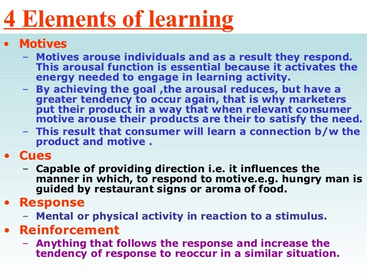consumer learning example
