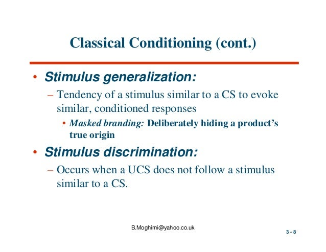 classical and operant conditiioning Classical and operant conditioning article classical conditioning: neutral, conditioned, and unconditioned stimuli and responses classical conditioning: extinction, spontaneous recovery, generalization, discrimination.