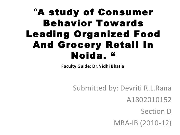 consumer behavior towards ariel and surf