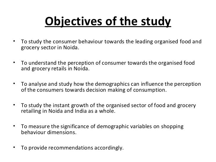 consumer perception towards organised retail outlets Customer expectations of store attributes: a study of organized customers towards organized retail outlets in consumers have a perception of low.