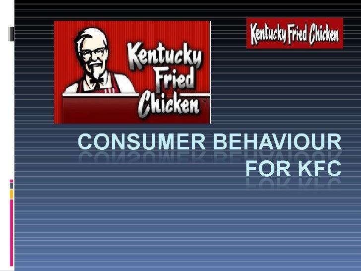 kfc consumer behaviour ppt