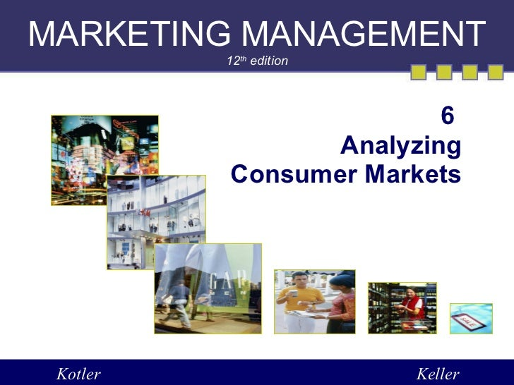 MARKETING MANAGEMENT 12 th  edition 6  Analyzing Consumer Markets Kotler Keller