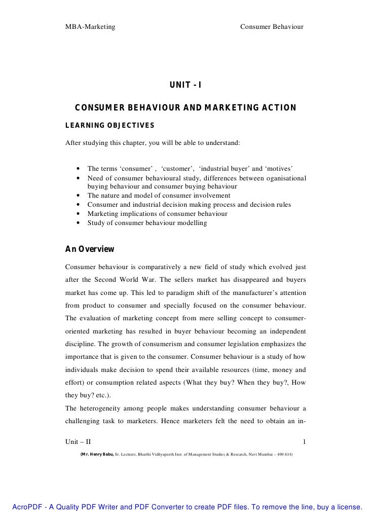 the importance of understanding consumer behaviour Consumer behavior essentially refers to how and why people the importance of the understanding consumer motivation is the best way to learn how.