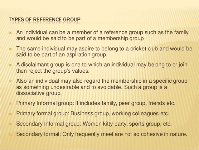 reference group consumer behaviour Start studying consumer behaviour - reference groups and family learn vocabulary, terms, and more with flashcards, games, and other study tools.