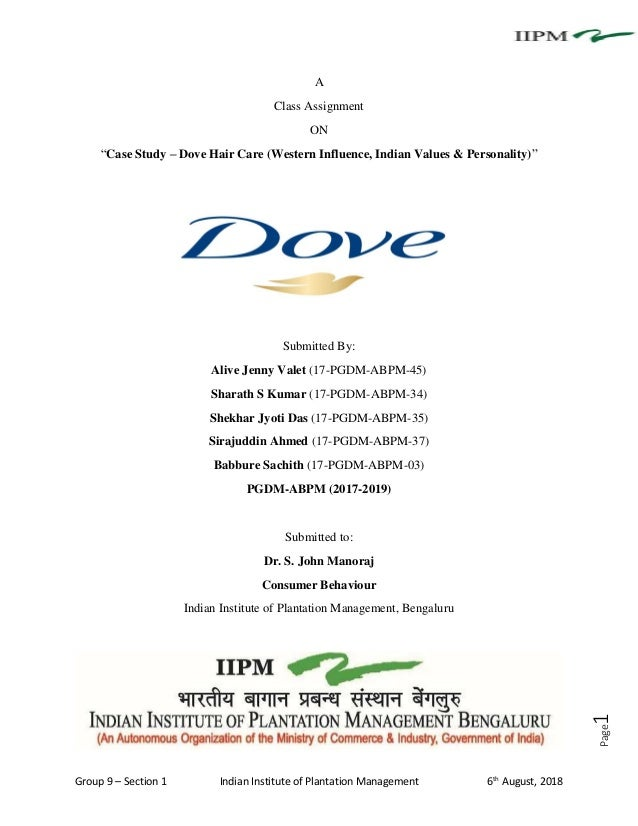 Case Study - Dove Hair Care (Western Influence, indian