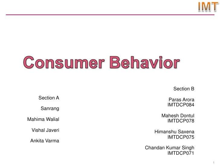 sec a Consumer behaviour(sec a ,sec b combined)