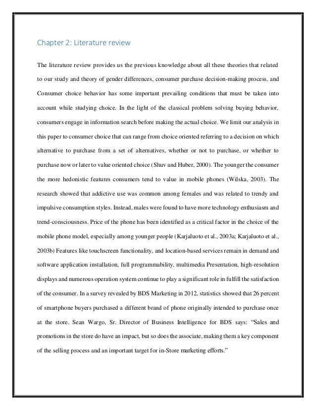 literature review on consumer purchase decision