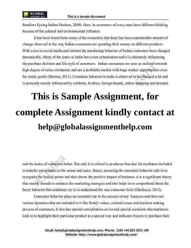 Consumer Brand Buying Relation Assignment Sample