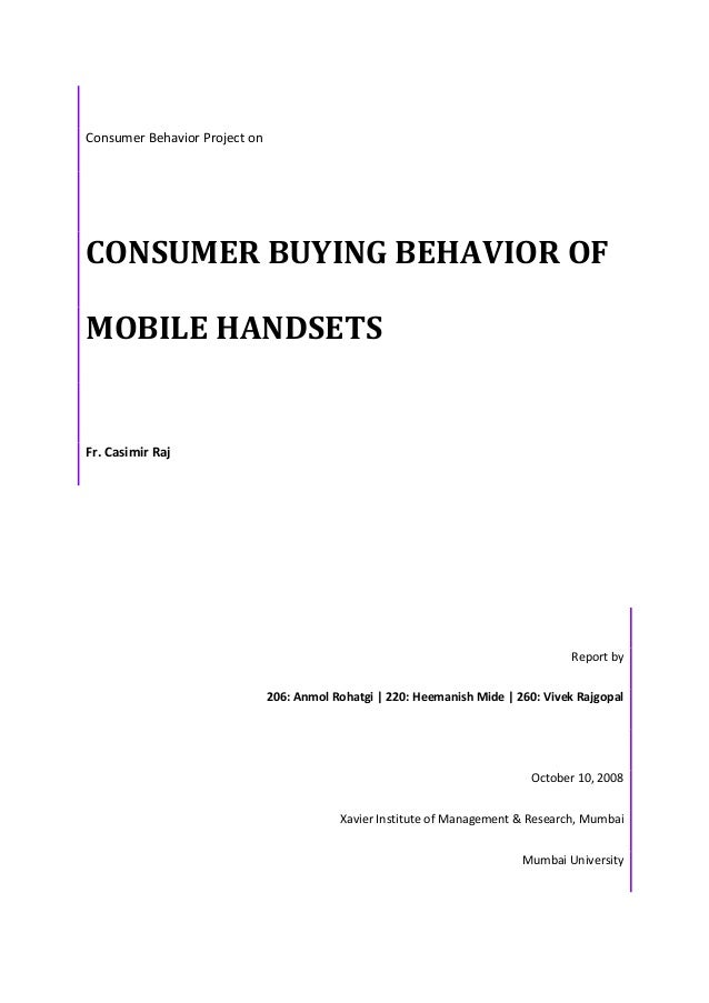 How consumer behave towards nokia mobile