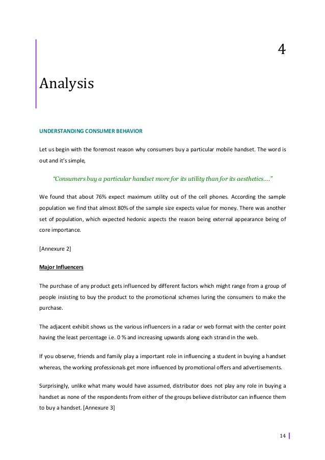 analysis of buying behavior of mobile 1 consumer search behavior on the mobile internet: an empirical analysis abstract the increasing diffusion of smartphones has facilitated access to.