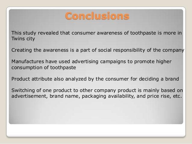 Consumer Buying behaviour towards toothpaste