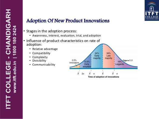 Adoption Of New Product Innovations • Stages in the adoption process: • Awareness, interest, evaluation, trial, and adopti...