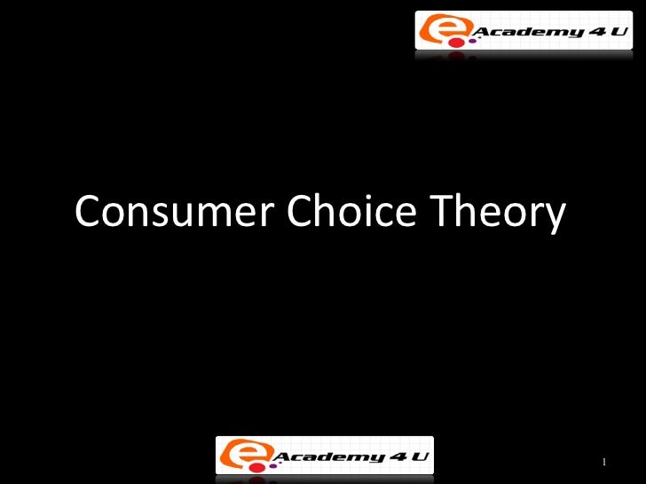 Consumer Choice Theory                         1