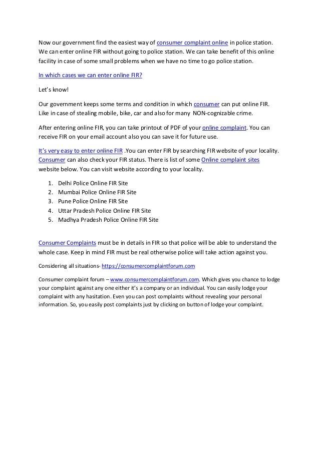 online complaint sites- www consumercomplaintforum com