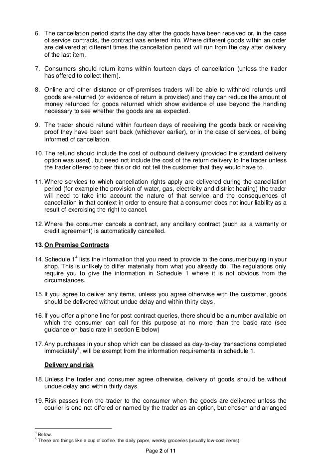 Consumer Contracts Regulations >> Consumer Contracts Regulations 2013 A Guidance Note By Brian Miller