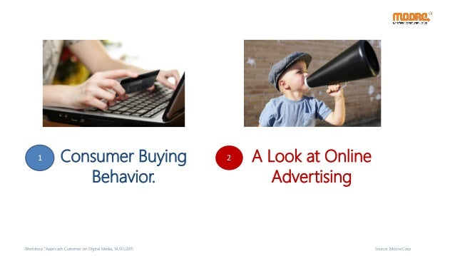 """Consumer Buying Behavior. A Look at Online Advertising 1 2 Workshop """"Approach Customer on Digital Media, 14/07/2015 Source..."""