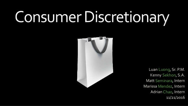 Consumer discretionary stock pitch