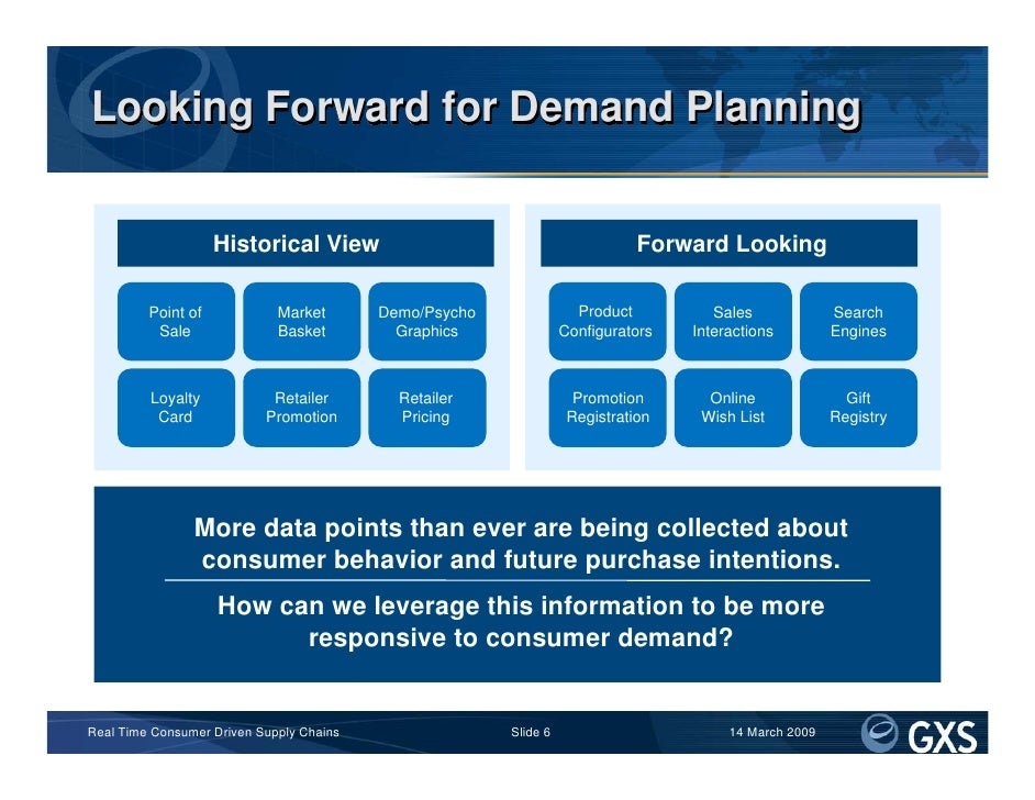 Looking Forward for Demand Planning                       Historical View                                          Forward...