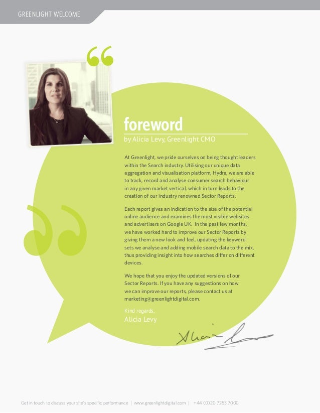 forewordAt Greenlight, we pride ourselves on being thought leaderswithin the Search industry. Utilising our unique dataagg...