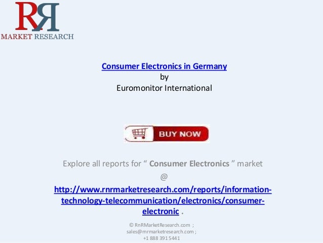 """Consumer Electronics in Germany by Euromonitor International  Explore all reports for """" Consumer Electronics """" market @ ht..."""