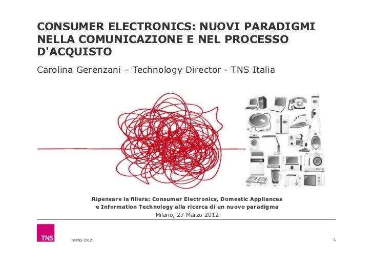 CONSUMER ELECTRONICS: NUOVI PARADIGMINELLA COMUNICAZIONE E NEL PROCESSODACQUISTOCarolina Gerenzani – Technology Director -...