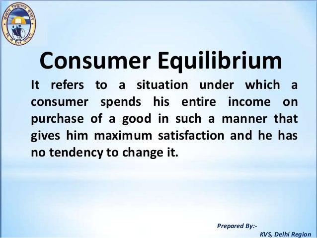what is consumer equilibrium