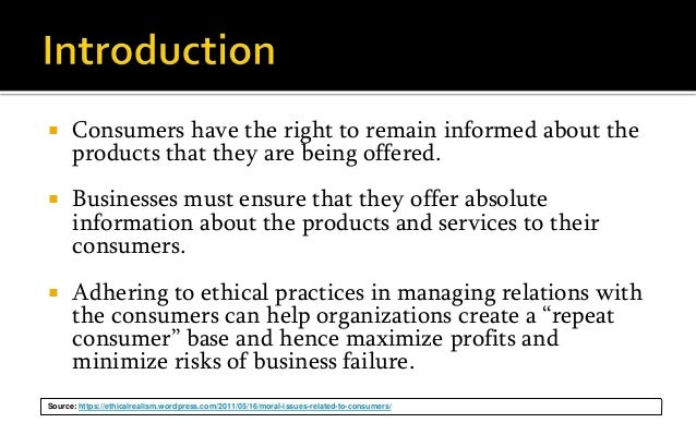 consumer ethics It could be construed that the term 'consumer ethics' simply means looking at  ethics from the perspective of consumers mintel (1994) used the term 'ethical.