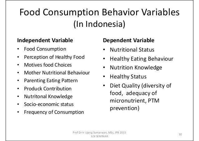 Consumer Food Behaviour Amp Food Choices 2015