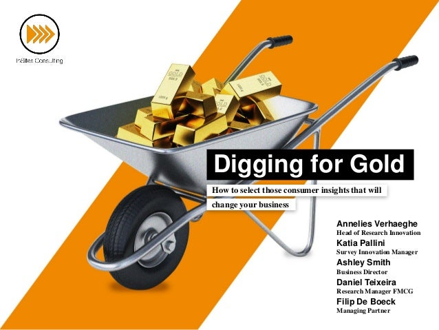 Digging for Gold How to select those consumer insights that will change your business Annelies Verhaeghe Head of Research ...