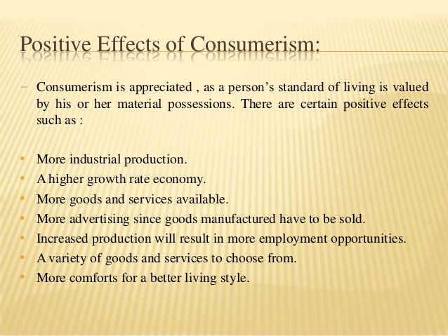 social effects of consumerism
