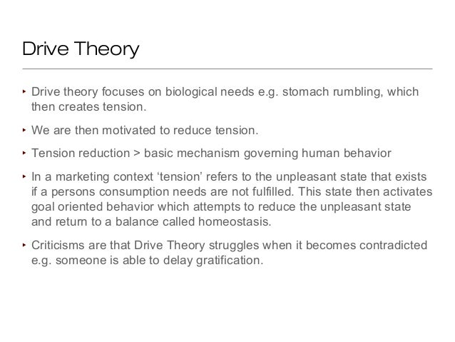 """freud s drive theory motivation The psychoanalytic theory of motivation  freud, in psychoanalytic theory, """"the mental processes  drive or ego drive and sex drive which play a significant role in."""
