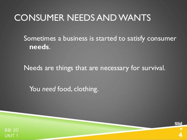 does marketing create or satisfy needs examples