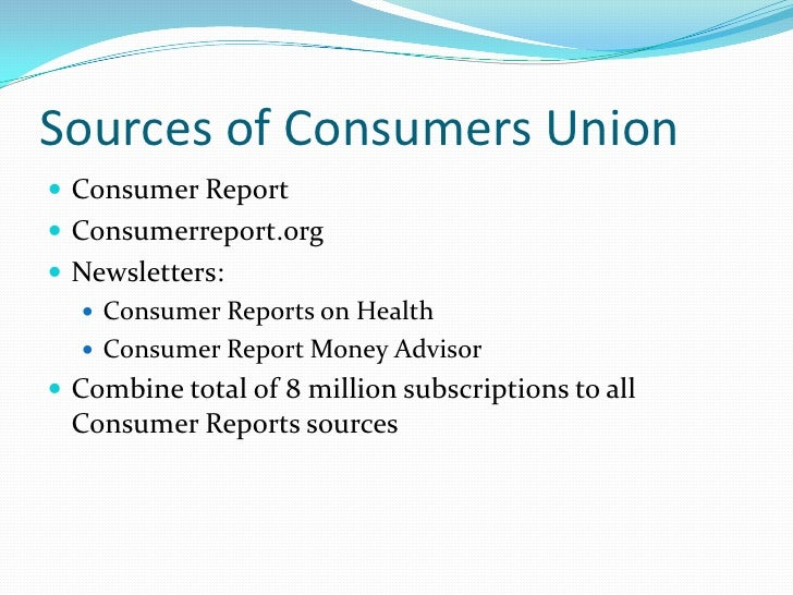 Consumer Oriented Evaluation Ppt