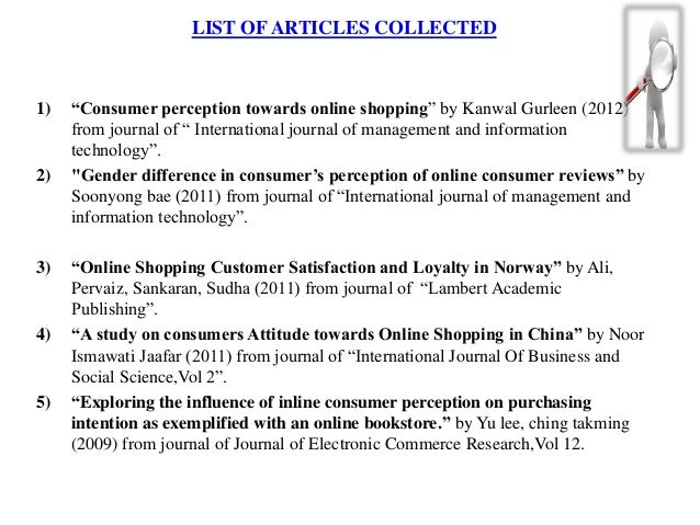 literature review on online shopping 63 i literature review: books & e-books online shopping evaluation barnes (2013) questions the reasoning why online shopping has become so popular.