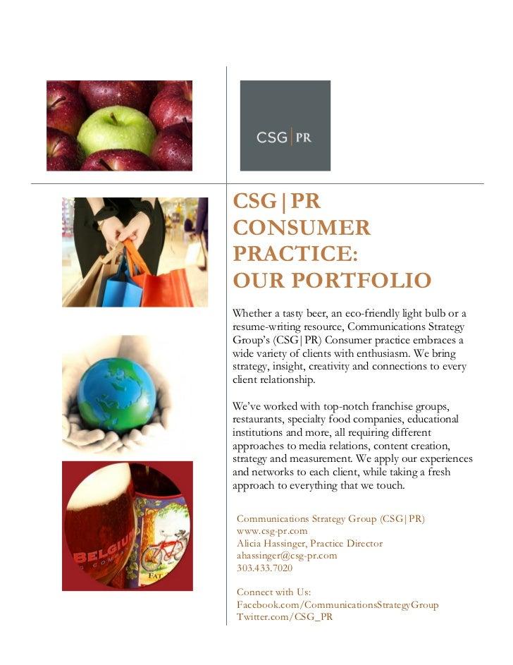CSG|PR                  CONSUMER                  PRACTI...