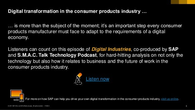 Consumer Products Digital Industry Podcast Slide 3