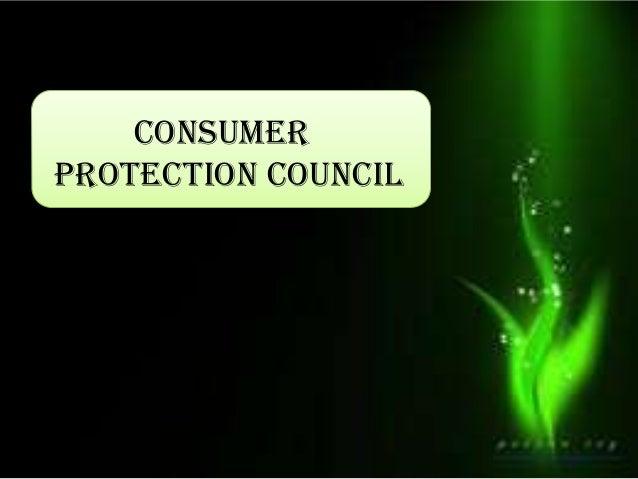 Consumer protection council