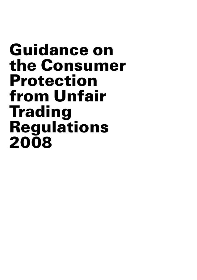 assessing the implementation of the unfair Commercial law assess the implementation of the unfair commercial practices directive in the uk in particular, are the enforcement methods provided for effective or could they be improved.