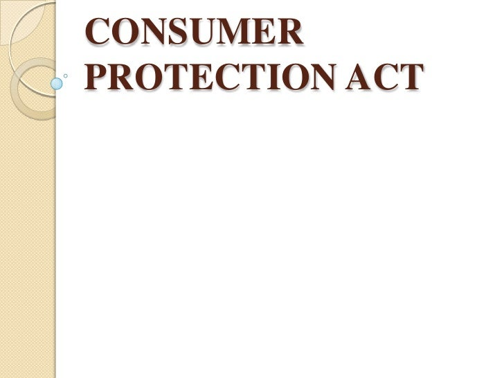 CONSUMERPROTECTION ACT