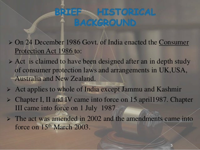 case study on consumer protection act 1986