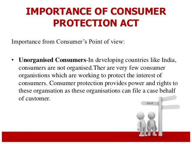 The need of consumer awareness at