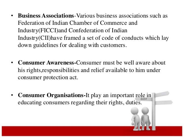 • Business Associations-Various business associations such as  Federation of Indian Chamber of Commerce and  Industry(FICC...