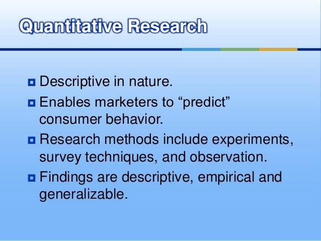 consumer research methods