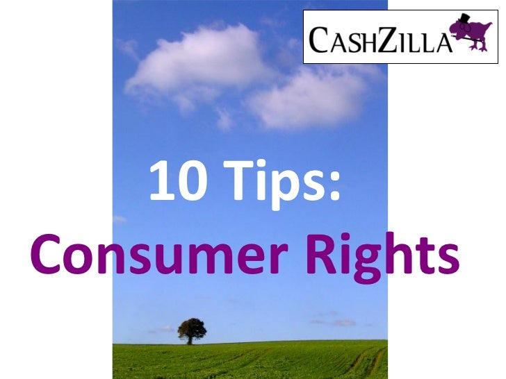 10 Tips:Consumer Rights