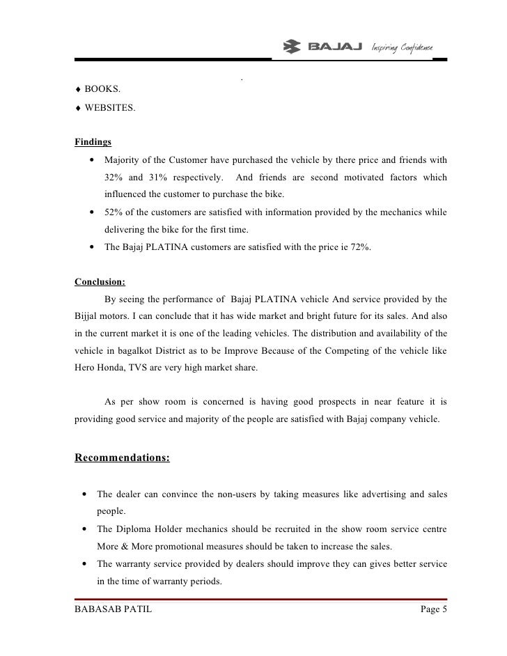 project report on consumer satisfaction in bajaj allianz Bajaj allianz summer internship report presentations recherche recherche recherche.