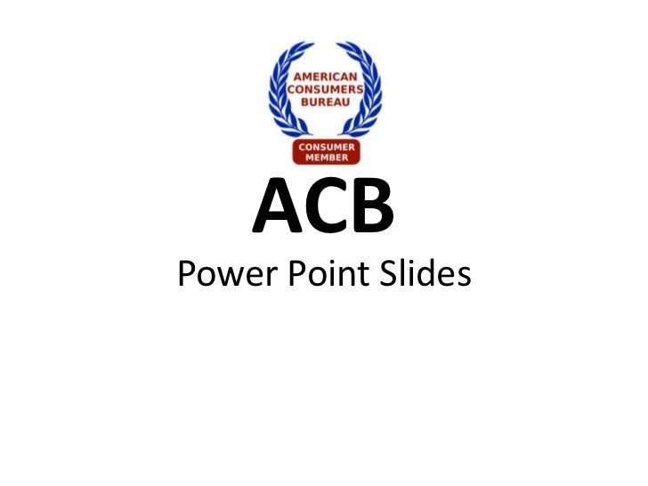 ACBPower Point Slides