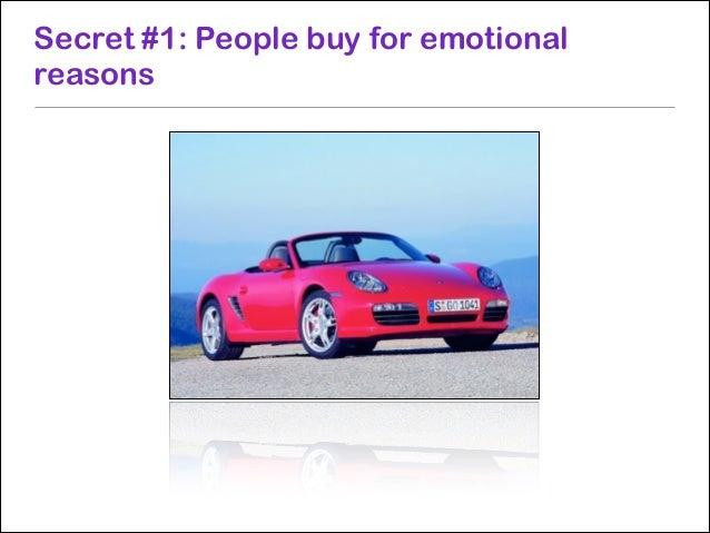 Secret #4: Different parts of the brain control different decisions Prefrontal Cortex  Amygdala